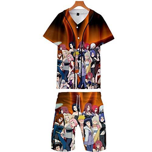 Spricen Herren T-Shirt Set Badeshorts Sommer Badehose 3D Strand Shorts Hawaii Freizeit Shorts Natruo H M