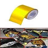 Cinta de Escape de Calor Wrap Oro Aire de admisión térmica del Aislamiento de refracción térmica Barrera Auto Adhesivo Motor 2 Pulgadas y 5/9 / 10M Pegatinas para Moto (Color : 5M)