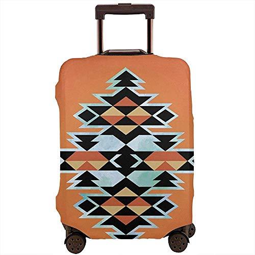 Funda de Equipaje de Viaje Tribal Azteca Étnico Abstracto Elementos Tradicionales...