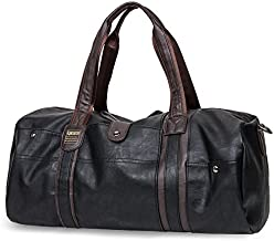 MINALO Brand Oil Wax Leather Handbags For Men Large-Capacity Portable Shoulder Bags Men's Fashion Travel Bags Package Black