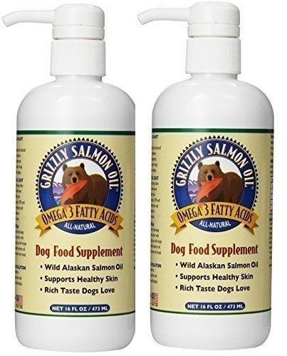 Grizzly Salmon Oil for Dogs (16 oz) 2 Pack