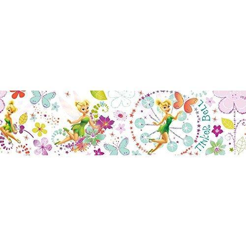 Disney Tinkerbell Fairytail Garden Multi Tapetenbordüre 5 Meter