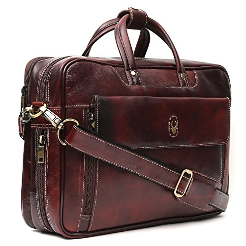 WILDHORN® Leather laptop Messenger bag for Men