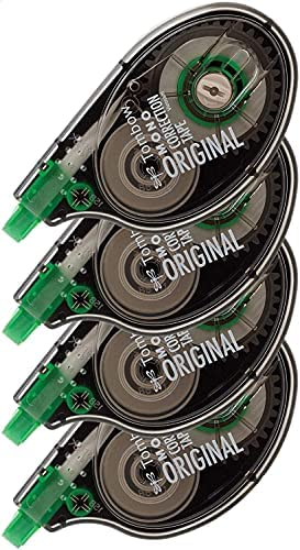 Tombow 68626 MONO Original Correction Tape, 4-Pack. Easy to Use Applicator for Instant Corrections