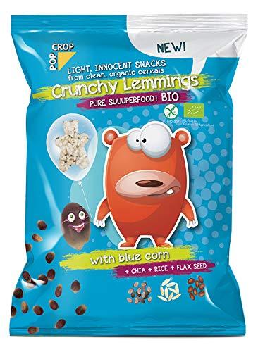 POPCROP Bio Crunchy Lemmings, 10 x 70 g | Superfoods-Mischung, glutenfrei, vegan, fettarm | Hergestellt ohne Öl | Reich an Mineralien und Ballaststoffen | Ohne künstliche Zusatzstoffe