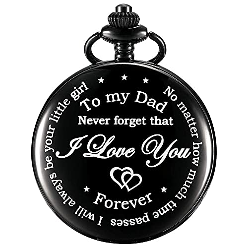 Reloj De Bolsillo Grabado De Papá De Hija A Padre, Regalos para Hombres para Aniversario, Graduación, Día del Padre, Día De San Valentín