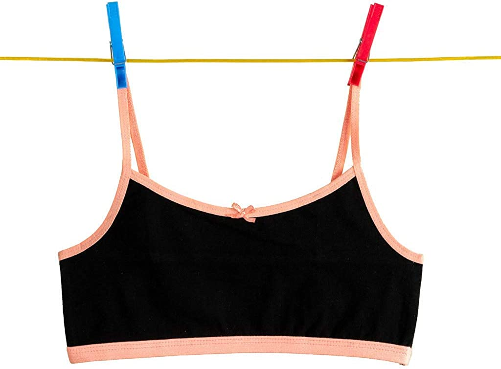 Pack of 12 Alyce Intimates Girls Cotton Cropped Cami Training Bra