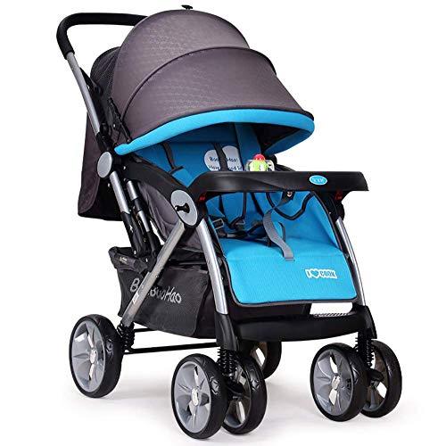 HAO XIAN SHENG Kinderstoel, Lichtgewicht Stedelijke wandelwagen vanaf de geboorte, Reissysteem met Bassinet, 0 Maanden - 3,5 jaar, 0-25 kg Baby