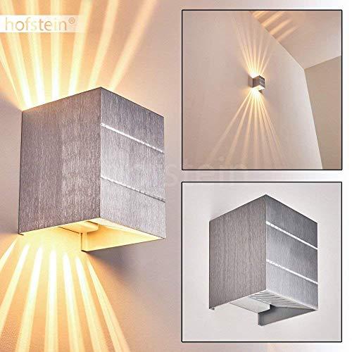 Wandleuchte Erik, Wandlampe aus Metall in Aluminium, Wandspot 1-flammig, 1 x G9 max. 33 Watt, Wandstrahler mit Lichteffekt, LED geeignet