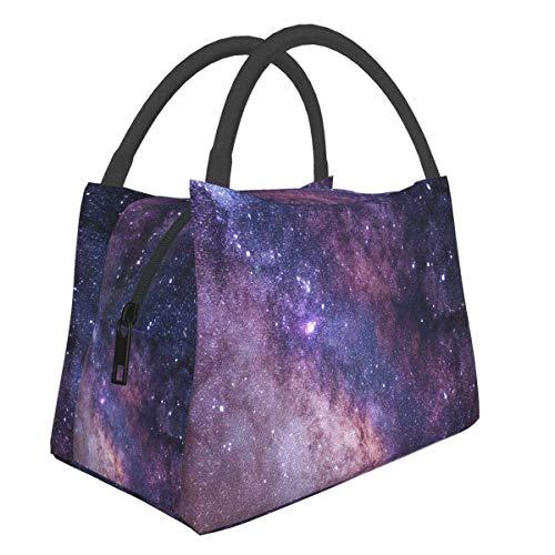 Beautiful Universe Nebula Lunch Bag Cooler Bag Mujeres Bolsa de asas Aislante Lonchera térmica Resistente al agua Bolsa de almuerzo para mujeres / Picnic / Pesca / Escuela / Trabajo