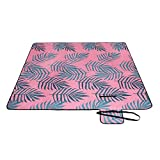 <span class='highlight'><span class='highlight'>SONGMICS</span></span> Picnic Blanket, 200 x 200 cm, Large Camping Picnic Rug and Mat for Beach, Park, Yard, Outdoors with Waterproof Layer, Machine Washable, Foldable, Fern Pattern GCM87KJ