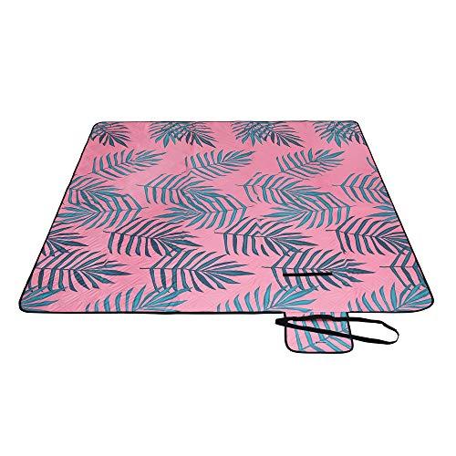 SONGMICS Picknickdecke, 200 x 200 cm große Stranddecke, Campingdecke, wasserdichte Unterseite,...