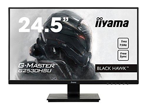 Ecran iiyama 24,5' G-Master G2530HSU-B1 Black Hawk, FHD@75Hz, FreeSync Premium, 1ms, DP/USB/HDMI Freesync, black tuner, speakers