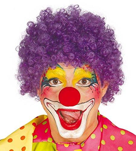 Fiestas Guirca Purple à Bas Prix de Perruque Clown