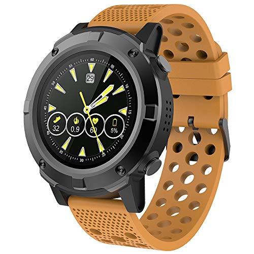 Denver SW-660ORANGE Smartwatch, Bluetooth, GPS, Fitness-Tracker, Herzfrequenz-Sensor, wasserdicht, Anzeige von Benachrichtigungen, kompatibel mit iOS und Android
