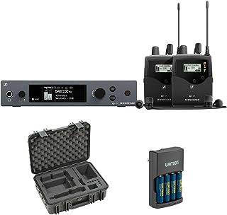 $1295 » Sennheiser ew IEM G4-Twin Wireless Monitor System Kit (A: 516 to 558 MHz) with SKB iSeries Case for Sennheiser EW Wireless Mic & Charger (4 AA NiMH Batt) Bundle
