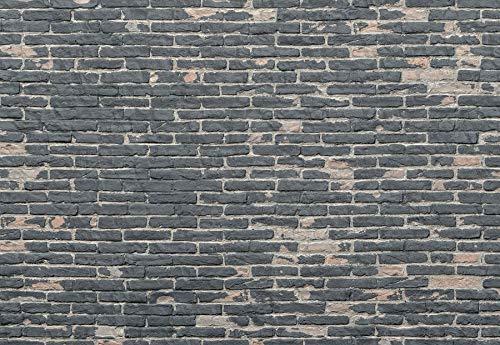 Komar - fleece fotobehang PAINTED BRICKS - 368 x 248 cm - behang, muurdecoratie, baksteen, stenen muur - XXL4-067