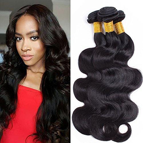 Echthaar Tressen Human Hair Bundles Brasilianische Haare Weave Haarverlängerung Body Wave Remy Hair 1 Bundles 100g-25cm