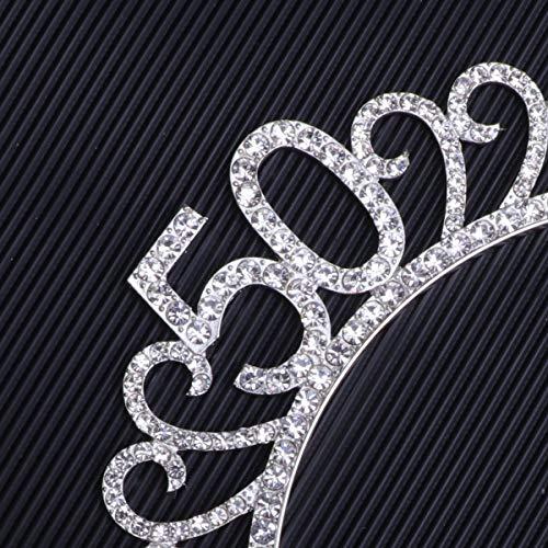 Aros de Pelo Corona de Diamantes de Imitación de Metal para 50...