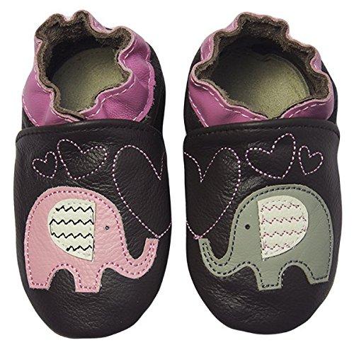 Rose & Chocolat Chaussures Bébé Elephant Kiss Marron Taille 20/21 cm 6-12 Mois