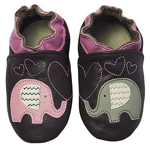 Rose & Chocolat Chaussures Bébé Elephant Kiss Marron Taille 28/29 cm 3-4 ans