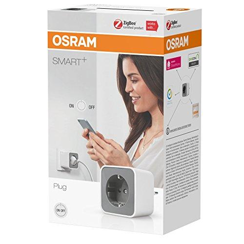 OSRAM Smart+ Prise Connectée | Blanc/Gris | Pilotable avec Amazon Alexa via une passerelle Zigbee