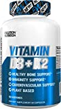 Evlution Nutrition Vitamin D3 + K2 for Immune System Support, Bone, Brain and Heart Health Support, Non-GMO and Gluten-Free, High Potency, Improve Calcium Absorption, 60 Servings