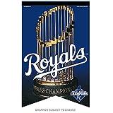 Wincraft Kansas City Royals 2015 World Series Champions Premium Felt MLB Banner -