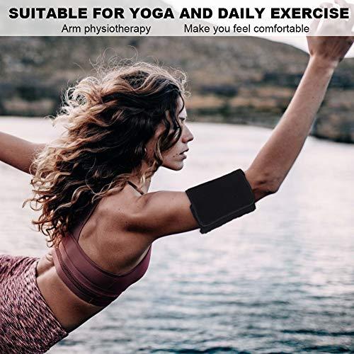Correa de brazo de masaje, cómoda tela de algodón + ABS + esponja Cinturón de brazo de terapia de acupuntura portátil estable para ejercicio diario para hombres para mujeres para yoga