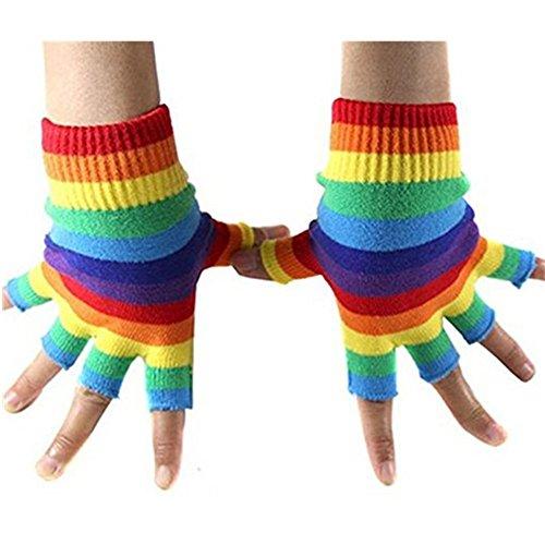 Jelinda Regenbogen Streifen Fingerlose