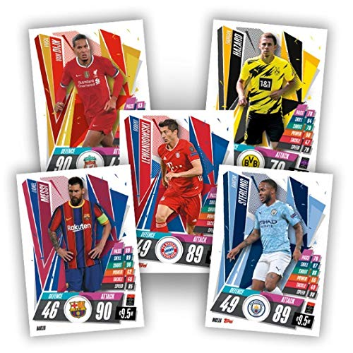2020-21 UEFA Topps Match Attax Champions League Retail 30pk BOX (180 CARDS TOTAL)