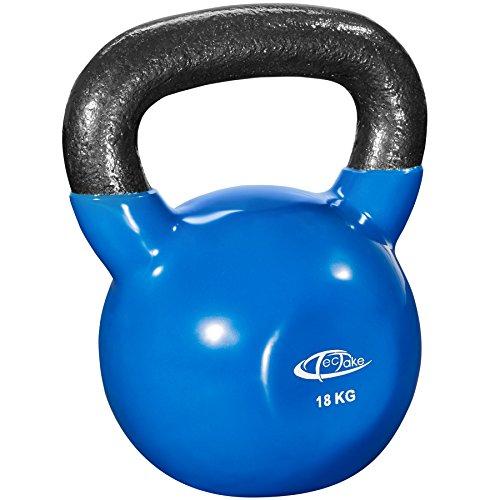 TecTake Kettlebell 4 kg à 24 kg | Poids en fonte avec surface en vinyle | Convient aux utilisateurs débutants et avancés | gym home fitness (18 kg | no. 402630)