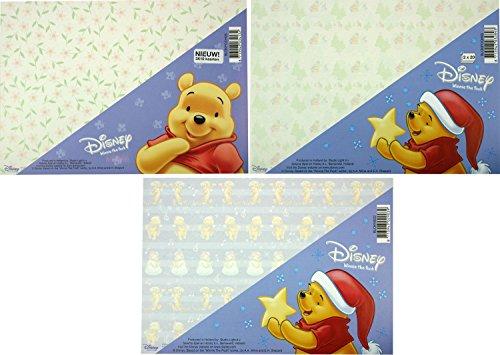 Winnie the Pooh Set van 3 Kartonnen Blokken - 110 vellen - Maak Je eigen Kaarten of andere creatieve projecten