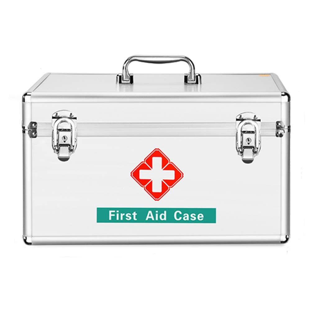 SXZHSM Caja de Medicina casa Grande Caja médica botiquín de Primeros Auxilios Completo Almacenamiento Uso médico Caja Caja de Medicina del hogar Caja de Almacenamiento de medicamentos (Size : L): Amazon.es: Hogar