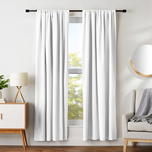 AmazonBasics Room Darkening Blackout Window Curtains