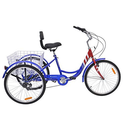 MOPHOTO Erwachsenen-Dreirad 7 Gang Dreirad für Erwachsene, Meridian 26 Erwachsene Dreirad für Männer/Damen/Senioren - 2