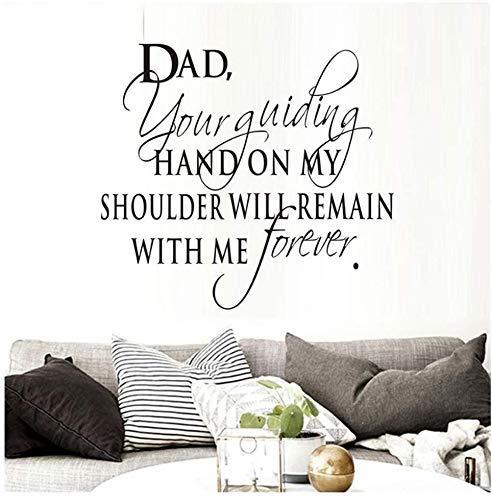 Schrijf een brief voor papa je hand gidsen u op mijn schouder kunst woorden muursticker huisdecoratie muursticker brief sjabloon 64 cm X 58 cm