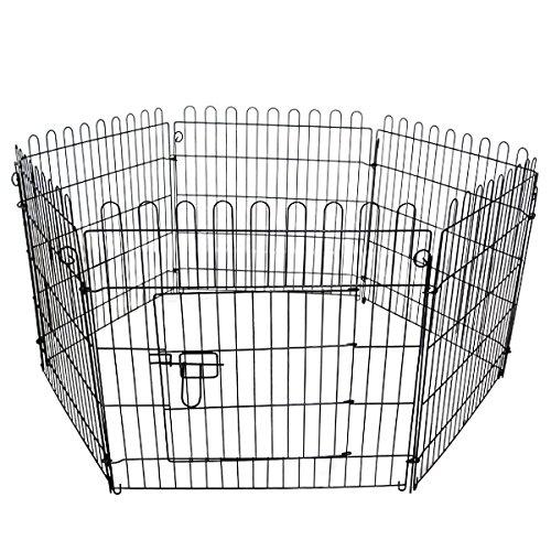 WEIMALL ペットサークル 折りたたみ 6面サークル 高さ60cm 犬用ケージ 小型犬用 中型犬用 屋内用 屋外用 室内用 犬小屋 犬 ペット ペット用品