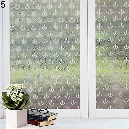 Nvfshreu Frosted Fenster Glas Film Aufkleber Badezimmer Sichtschutz Wasserdicht Aufkleber Aufkleber Einfacher Stil 10# Fensterfolie Landhaus Vintage Jugendstil Ornament (Color : 5#, Size : Size)