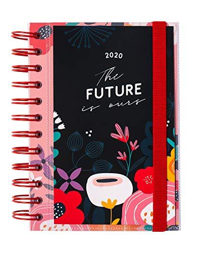 Erik - Agenda Giornaliera 2020 12 Mesi Blummen, Multiuso e Versatile, 11.4 X 16 Cm, con Ampi Spazi per Organizzare le Tue Giornate, Include Adesivi Stickers