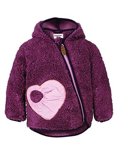Racoon Baby-Mädchen VALBORG Teddy Kuschelfleecejacke Jacke, Violett (Grape Shake GRA), 80