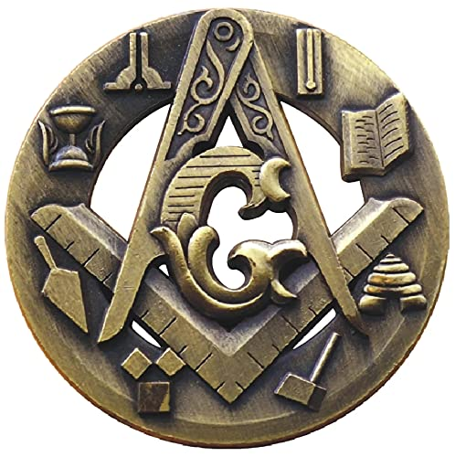 Pudthin Hollowed-Out Medal Masonic Relief Crafts Challenge Coin
