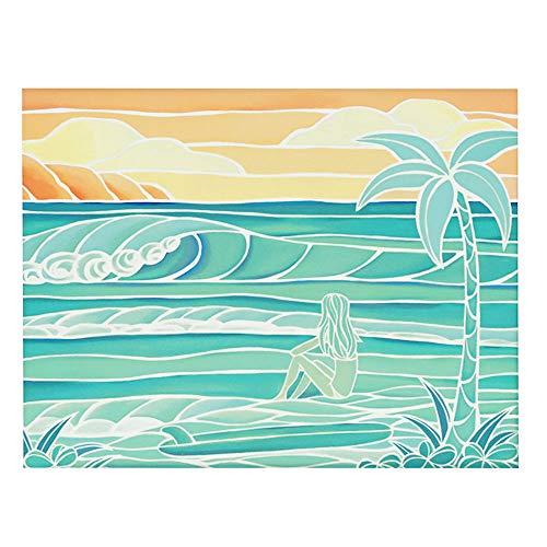 (ヘザーブラウン)HEATHER BROWN ART PRINT BEACH GIRL アートプリント ビーチガール Mサイズ横 W35.6×H28.0cm サイン入り 絵画 HB9396P