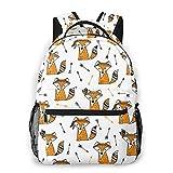 Cute Fox School Mochila Adolescentes Niñas Niños Niños Mochilas Escolares Mochila