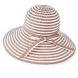 Bow Sun Protection Caps Sunhats Women Wide Large Brim Sun Hat Cotton Striped Bow Beach Hats Visors Cap,03