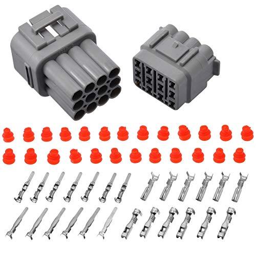 F-MINGNIAN-TOOL, MN-Tube, 1 Juego de 12 Pines de Forma estanca Cable eléctrico Conector de Enchufe de 2,2 mm Resistente al Agua hasta 2,5 mm for el Coche Auto (tamaño : 2.2mm to 2.5mm)