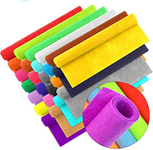 AMERSUMER50 8X12(20CM X30CM)부드러운 펠트 직물 장에 의하여 분류되는 색깔을 느꼈 팩 DIY 꿰매는 짠것이 아닌 패치 워크 운동은 아이들의 실제적인 능력 25 색상