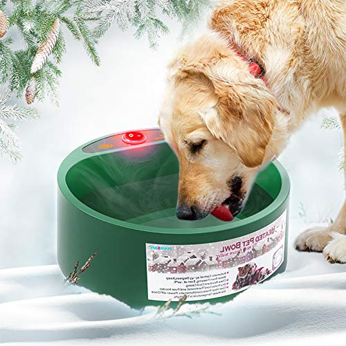 Dog Bowl Multifunctional Pet Bowl for Food & Water,Heated Pet Bowl,Constant temperature Water Food Feeder,Thermal-Bowl for Dogs Cats Rabbits and Birds,Feeding & Pet Watering Supplies Pet Basic Bowls