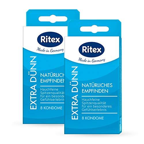 Ritex EXTRA DÜNN Kondome für intensives Empfinden, 16 Stück, Made in Germany