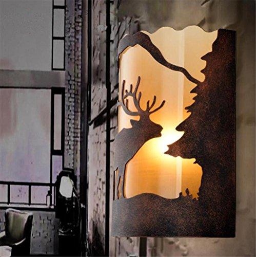 Atmko®Applique Murale Fer Forgé Mur Lumière Industrielle Vintage E27 Éclairage LOFT Style Rétro Tissu Abat-jour Creative Animal Design Applique Applique Pour Chambre Salon Restaurants Décoration